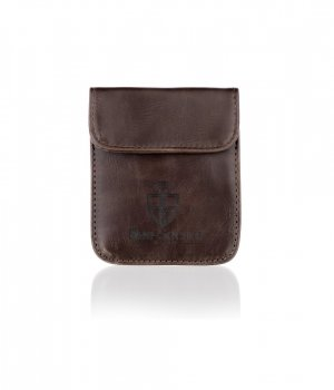 BS001_BROWN Brown Leather Secure Pouch